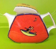 Rosenthal Flash Love Story Tea Pot  Lid Dorothy Hafner Studio 52 Oz Kahane