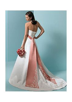 Gorgeous Flowery Gorgeous Wedding Dress in Color (AXW58)