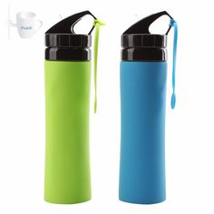 600ml Foldable Silicone Sports Water Bottle