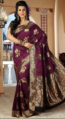 Gleaming Pink Embroidered Saree