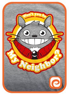 Totoro/Mr. Rogers Won't You Be My Neighbor by TeeMaki on Etsy