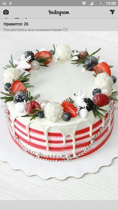 69 Ideas For Cake Christmas Birthday Desserts Christmas Cake Decorations, Holiday Cakes, Christmas Desserts, Christmas Treats, Christmas Baking, Christmas Birthday, Cupcakes, Cupcake Cakes, Birthday Desserts