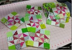 My Twirl Around blocks from my Addicted to Scraps column in the Mar/Apr 2015 issue of Quiltmaker!