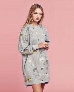 Lazy Oaf OK Yes Sweatshirt Dress - View all - NEW IN - Womens