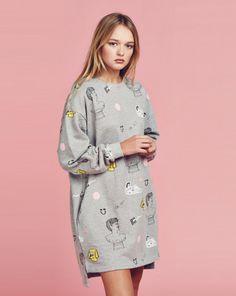 Lazy Oaf OK Yes Sweatshirt Dress - View all - NEW IN - Womens