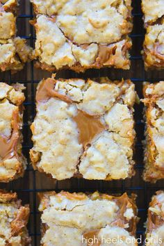 Dulce de Leche Oatmeal Bars | High Heels and Grills