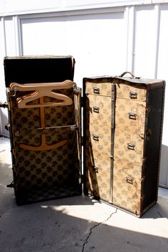"""Of course you need a vintage steamer trunk to match the """"traveling"""" circus theme."""