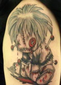 Voodoo doll tattoos are the most popular voodoo tattoos, but there are many varieties. Check out this gallery of all kinds of voodoo tattoos! Voodoo Doll Tattoo, Voodoo Dolls, Tattoo Design Drawings, Tattoo Designs, Art Drawings, Schrift Tattoos, Magic Symbols, Latest Tattoos, Hummingbird Tattoo