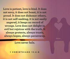 1 Cor. 13:4-8