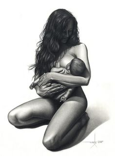 I'm going to pretend I look like this while breastfeeding...