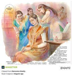 Indian Women Painting, Indian Art Paintings, Old Paintings, Beautiful Paintings, Cartoon Girl Drawing, Girl Cartoon, Art Sketches, Art Drawings, Indian Art Gallery
