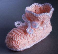 Crochet Bootee/Bootie ~ free pattern