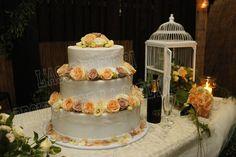 La#torta degli sposi#decoro floreale #anaphalis#