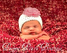 Crochet Baby Hats Baby Girl Hats Photography Prop by preppypeach