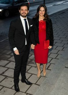 Queen Silvia, Prince Carl Philip and Princess Sofia at the meeting of Royal Academy of Fine Arts