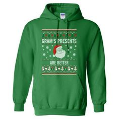 Grams Presents Are Better Ugly Christmas Sweater - Heavy Blend™ Hooded Sweatshirt