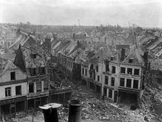"""The ruins of Bapaume, 19 March 1917. [AWM E00395]  """"April 14, 1917.   Bapaume was knocked about a lot but not as bad as some villages we passed during the trip up."""""""