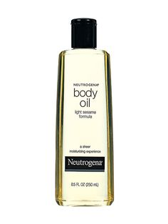 Neutrogena Body Oil Light Sesame Formula I slather this on every morning after I step out of the shower to keep my skin baby soft.