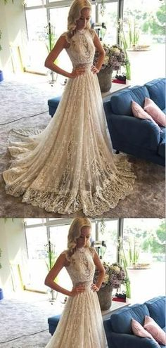 A-Line High Neck Beaded Lace Wedding Dresses ,Cheap Wedding Dresses, dresses Source by sundyemily hochzeitsgast Chiffon Wedding Gowns, Tea Length Wedding Dress, Cheap Wedding Dress, Boho Wedding Dress, Wedding Dress Styles, Bridal Dresses, Lace Wedding, Dream Wedding, Prom Dresses