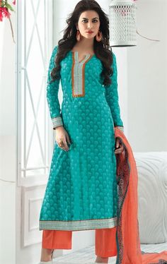 Picture of Admirable Green Designer Patiala Suit