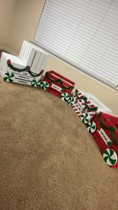 Christmas Train, Simple Christmas, Christmas Time, Christmas Yard Art, Dollar Store Christmas, Whimsical Christmas, Christmas Kitchen, Crochet Christmas, Christmas Bells