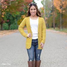 Lorelei Cardigan Crochet Pattern Easy/Intermediate | Etsy Easy Crochet, Free Crochet, Knit Crochet, Crochet Hats, Crochet Sweaters, Crochet Style, Crochet Jumpers, Modern Crochet, Women's Sweaters