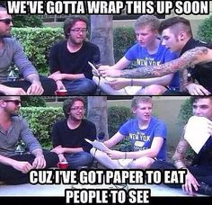 Bryan Stars BVB interview Andy you and eating paper. it makes me laugh Black Viel Brides, Black Veil Brides Andy, Andy Biersack, Emo Bands, Music Bands, Vail Bride, Bvb Fan, Bryan Stars, Andy Black