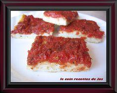Le coin recettes de Jos: PIZZA FROIDE AUX TOMATES