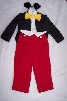 Mickey Mouse Costume by sisterssewwhat on Etsy, $55.00