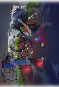 Bike Illustration, Wind Breaker, Biking, Webtoon, Concept Art, Cycling, Bicycle, Animation, Illustrations