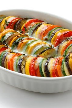 ProTalk about a beautiful dish!!  Provencal Vegetable Gratin will grace our table tomorrow.