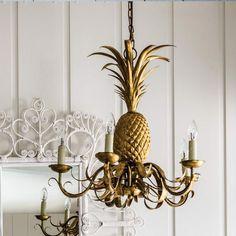Pineapple Chandelier - gold