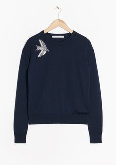 & Other Stories | Bird Embroidery Sweater
