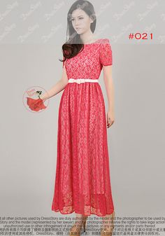 This maxi dress is fabricated from premium floral lace and soft liner, and features a scoop back design with a light dusty rose pink colour bow tie