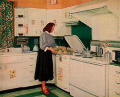"""Dishwasher""""Family Circle Magazine""""  June 1955."""