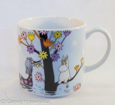 "Muumimuki ""Water mug"" -sarja (vaaleansininen) Yamaka, japanikko, 17€"