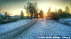 Bruksgatan i vintersolen och 15 minusgrader