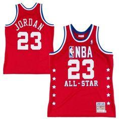 Mitchell & Ness Michael Jordan Chicago Bulls 1988-89 All-Star Hardwood Classics Authentic Vintage Jersey - Red #NBA #Jordan