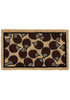 "Hedge Sweet Hog Doormat from Modcloth This eco-friendly doormat says ""Come in Guests, but Beware of Quills!"" Also it reminds me of my pet hedgehog Sasha Fierce. Decorative Accessories, Home Accessories, Vintage Decor, Retro Vintage, Cute Hedgehog, Welcome Mats, Joss And Main, A Boutique, Hand Weaving"