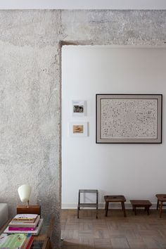 Exposed concrete in Midcentury apartment in Sao Paolo, Brazil by Felipe Hess, Remodelista