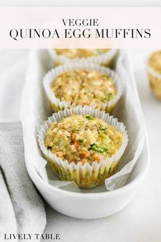 These veggie quinoa egg muffins make a healthy, delicious snack or breakfast for adults, kids, and babies! Made with just 7 ingredients in 30 minutes, they're perfect for meal prep. (#glutenfree, #vegetarian) #eggmuffins #quinoamuffins #savorymuffins #vegetablemuffins #mealpreprecipes #mealprepinspo #glutenfreemealprep #babyledweaningrecipes #toddlersnacks #healthysnackrecipes #mealprepsnacks #healthyeating #cleaneatingrecipes #healthymealprep #healthysnacks #veggiemuffins #pregnancysnacks
