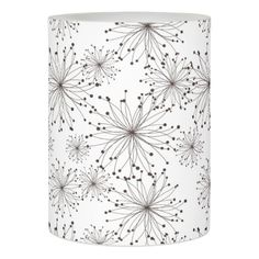 Retro floral background flameless candle