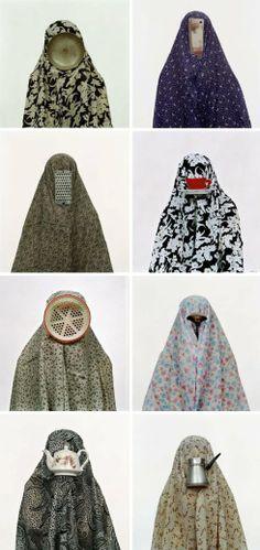 Shadi Ghadirian, Contemporary Iranian Photography, Like Every Day, Women and domesticity, role in society Iranian Women, Iranian Art, Middle Eastern Art, Textile Sculpture, Arabic Art, Art Courses, Feminist Art, A Level Art, Islamic Art