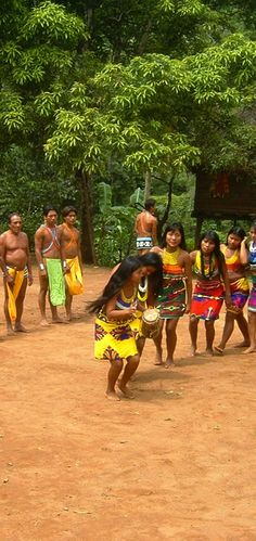 The Embera Indians, who live along the Chagres River and in the Darien