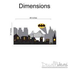 Decalideas Batman Gotham City Skyline City Buildings Sticker Is High  Quality Non Toxic Eco Friendly Vinyl Part 58