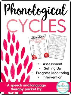 Phonological Cycles resource created by Speechy Musings. This Cycles for Phonology pack includes setting up, progress monitoring, intervention, and assessment! Preschool Speech Therapy, Articulation Therapy, Speech Activities, Speech Therapy Activities, Speech Language Pathology, Speech And Language, Articulation Activities, Language Activities, Phonics