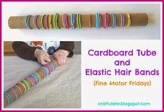 I am so pleased that the Fine Motor Fridays series has been extended into November! I am also very excited that in addition to our usual Fine Motor Friday bloggers (Laura from LalyMom, Samantha from Stir the Wonder and Kristina from School Time Snippets), we also welcome Sarah from Little Bins for Little Hands and from next week we'll also be joined by Emma from P is for Preschooler!  This week's fine motor skill activity is SUPER frugal, and just uses an empty cardboard tube and some