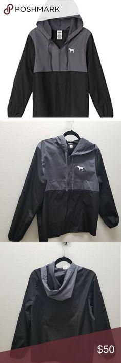 2257d783 Pink Victoria's Secret Windbreaker Anorak Windbreaker jacket by Pink  Victoria's Secret Has a gray black color