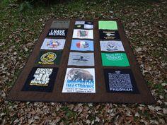 Twin Size Tshirt Memory Quilt made with your own T shirts by sunshineofautumn on Etsy