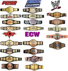 Wrestling Championships Ecw Wrestling, Wrestling Stars, Wrestling Superstars, Wrestling Divas, Wwe Championship Belts, Wwe Belts, Wwe Action Figures, Stephanie Mcmahon, Ideas